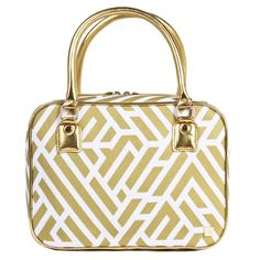 9th and Wander - Labyrinth Voyager Toiletry Bag in Gold, $86.00 (http://www.9thandwander.com/labyrinth-voyager-toiletry-bag-in-gold/)