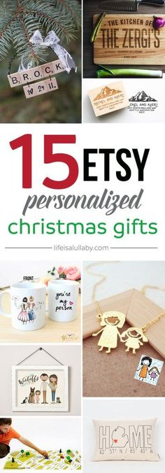 15 Etsy Personalized Christmas Gifts