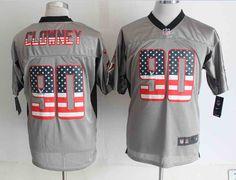 2014 NEW Nike Houston Texans #90 Jadeveon Clowney USA Flag Fashion jersey