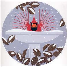 Charley Harper - Brrrrrrd Bath