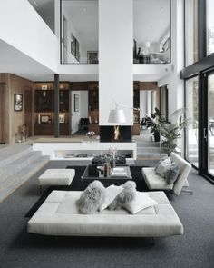 25 Amazing Interior Design Ideas For Modern Loft - GODIYGO.COM Loft is an extra space tha 25 Amazing Interior Design Ideas For Modern Loft - GODIYGO.COM Loft is an extra space that looks like a second floor, but it is not eligible enough to be said … Best Interior Design, Modern Interior Design, Interior Architecture, Contemporary Interior, Luxury Interior, Interior Ideas, Modern Interiors, Design Interiors, Architecture Plan