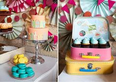 How fun is this colorful dessert table?