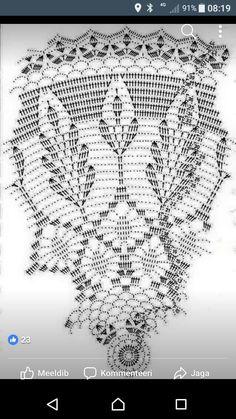 Crochet Doily Diagram, Filet Crochet Charts, Crochet Stitches, Doily Patterns, Crochet Patterns, Mantel Redondo, Crochet Dreamcatcher, Half Double Crochet, Holidays And Events