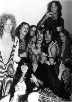 Killer Kane, David Johnasen, Iggy Pop, Kim Fowley, fans and groupies, Los Angeles, circa 74. Young Shaun Cassidy is in there too!