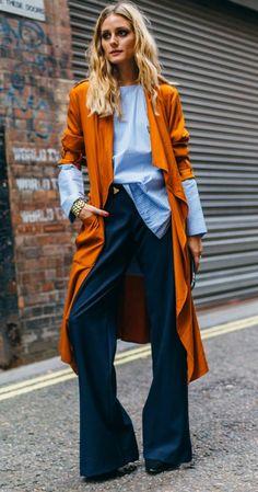 Long orange cardigan