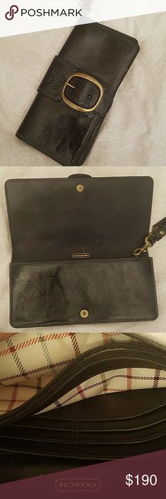 Coach leather wallet Coach black leather wallet  very good condition Coach Bags Wallets