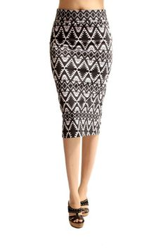 Aztec Knit Pencil Skirt - omg love!!