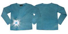 絞り染長袖Tシャツ「藍色」