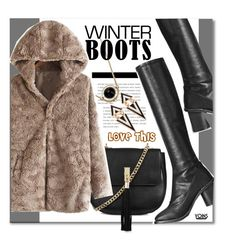 """""""Winter Boots"""" by yoinscollection ❤ liked on Polyvore featuring Topshop"""