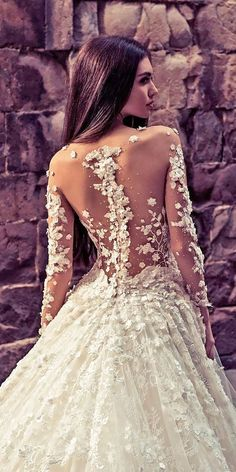 27 Stunning Trend: Tattoo Effect Wedding Dresses ❤ See more: http://www.weddingforward.com/tattoo-effect-wedding-dresses/ #wedding