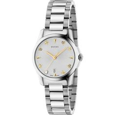 212bbe2763a Gucci G-Timeless Ladies Sapphire Silver Guilloche Pattern Dial Bracelet  Watch