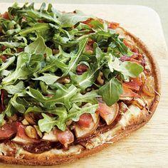 Healthy Gluten-Free Pear and Prosciutto Pizza | Cookinglight.com