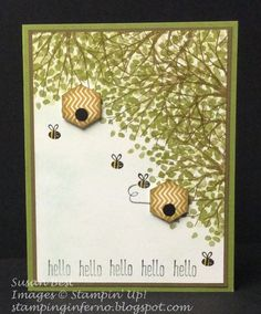 Honeycomb Hello, Sheltering Tree, Stampin' Up!, What Will You Stamp?, WWYS, stampinginferno.blogspot.com