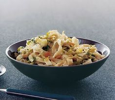 Fettuccine with Brussel Sprouts and Pine Nuts
