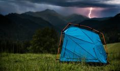 The Bolt tent series protects occupants from lightning strikes both from the ground and directly from the sky, making camping in the open safer for all.