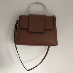 56d1423bd746bf Faux leather red/brown Autumn 2017 Zara handbag. Brand new, never used.