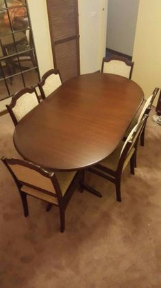 Dining Room Table With Drop Down Sides Fair Dropside Table And Six Chairs  Dining Tables  Gumtree Australia Design Ideas