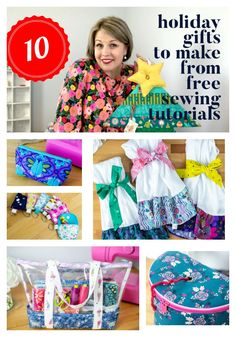 Are you ready for gift giving season? I've got you covered! Here are my 10 newest free sewing patterns and tutorials that are perfect for holiday gifts. Mini Christmas Stockings, Mini Stockings, Christmas Stocking Pattern, Felt Stocking, Christmas Sewing, Sewing Blogs, Easy Sewing Projects, Sewing Hacks, Sewing Tutorials