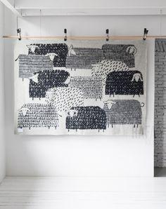 Sheep Wool Blanket black&white - Rafa-Kids