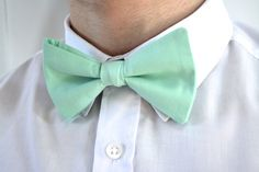 MENS MINT-Bow tie ready tied bow tie for men bow by ClipABowTie