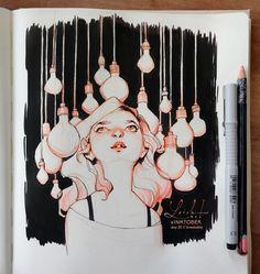 inktober 2018 - part Lois van Baarle Marker Kunst, Marker Art, Inktober, Art Sketches, Art Drawings, Character Art, Character Design, Loish, Tumblr