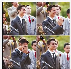 I'm that hopeless romantic who loves to watch the grooms reaction to seeing his bride walk down the aisle. The pure joy that shines through his tears shows me just how much he's longed and waited for her.