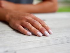 Midi Rings // Stacking Rings // Above Knuckle Ring // Large Classic Set of 7 by PricklyHearts on Etsy https://www.etsy.com/listing/160303861/midi-rings-stacking-rings-above-knuckle