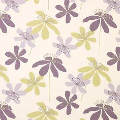 Buy John Lewis Passion Flower Curtain, Cassis | John Lewis