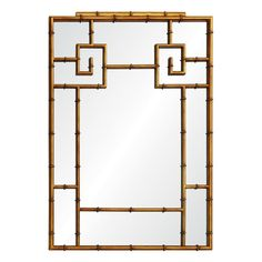 Distressed Gold Leaf Iron Mirror    MATERIAL: Iron, Mirror, Wood  FINISH: Distressed Gold Leaf, Mirror  BEVEL: No