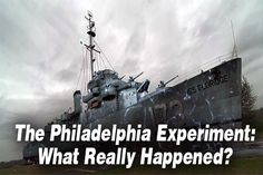 After Nikola Tesla refused to further assist the Navy with their invisibility experiment, the project ended up terribly, and has been known ever since as the 'Philadelphia Experiment.' An intriguing t Nikola Tesla, Philadelphia Experiment, Unexplained Mysteries, Ancient Mysteries, What Really Happened, Cryptozoology, Weird Stories, Conspiracy Theories, Ancient Aliens