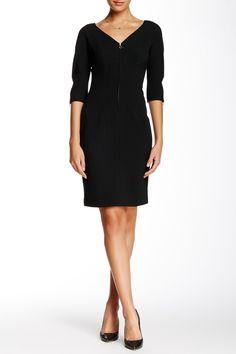 Crepe Zip Sheath Dress by Anne Klein on @nordstrom_rack