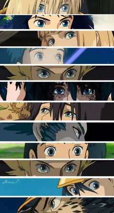 """The eyes are the windows of the soul."" .. Howl's eyes .. Howl´s Moving Castle (good Miyazaki/Studio Ghibli movie)"
