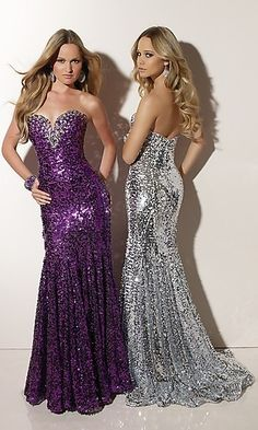 LITERALLY WALKING DISCO BALLS OR GLITTER TUBS....FOR THE RIGHT OCCASSION STANDOUT GOWN