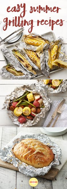 What's better than summer grilling? From corn on the cob and foil packet dinners to Smoked Pork Sandwiches and Grilled Flank Steak Tacos, this collection has something for everyone. What's better than summer grilling? Foil Packet Dinners, Foil Pack Meals, Foil Dinners, Foil Packets, Flank Steak Tacos, Summer Grilling Recipes, Summer Recipes, Grilling Ideas, Pork Sandwich