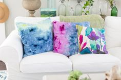 Try This Ice Dye Technique to Make Unique Pillows | eHow