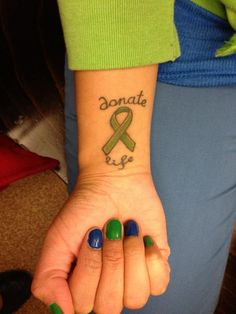 donate life tattoo - Google Search