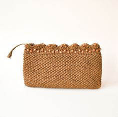 vintage 1970s woven japanese clutch