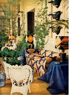 The Winter Garden- The rooms of VISTORTA di SACILE that Renzo Mongiardino decorated for Conte and Contessa Brando Brandolini d'Adda. Horst photographed VISTORTA -the restored the family's 1830 estate outside Venice more than forty years ago for Vogue