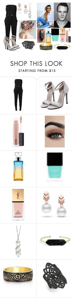 """~ Goyle's girl"" by livvy-horan on Polyvore featuring MICHAEL Michael Kors, 7 For All Mankind, MAC Cosmetics, Calvin Klein, Butter London, Yves Saint Laurent, Escalier, Sharon Khazzam, BaubleBar and Noir"