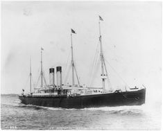The SS Germanic, on which Martin sails to and from Europe.