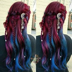 10 Amazing mermaid hair colour ideas – My hair and beauty Pelo Multicolor, Hair Reference, Drawing Reference, Cool Hair Color, Amazing Hair Color, Crazy Hair, Ombre Hair, Hair Dos, Pretty Hairstyles