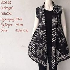 Model Cardigan Batik Vest Tanpa Lengan Motif Kelengan  Call Order Whatsapp ( Text Only ) 082-135-313-738 Pin BB D919D352