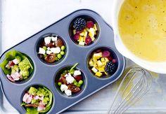 frugt og grønt i muffinform
