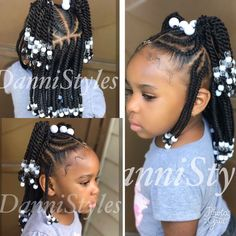Little Girl Hairstyle Beads And Braids Hairstyles For Little