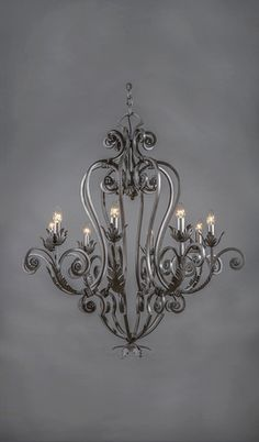Monaco Wrought Iron Chandelier - 8 Light