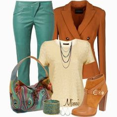 Dressing Your Truth Ideas Type 3: Dressy Outfits - I like the pants and purse