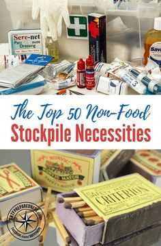 The Top 50 Non-Food Stockpile Necessities — There are all sorts of prepper stockpile lists out there, but most of them seem to revolve around food. However, there is a wide world of non-food items that deserve some space in your stockpile. Emergency Preparedness Food, Prepper Food, Emergency Food Storage, Emergency Preparation, In Case Of Emergency, Survival Prepping, Survival Skills, Survival Food List, Survival Gear