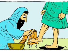 Washing feet :: Jesus takes on the role of a servant and washes His disciples feet (John Bible Story Crafts, Bible Stories, Stories For Kids, Bible Lessons For Kids, Bible For Kids, Sunday School Lessons, Sunday School Crafts, Toddler Bible, Best Teacher Gifts
