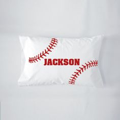 Personalized Baseball Travel / Nap / Toddler Pillow. Makes a great birthday gift for a little sports fan by funkycoolthreads, $18.00+