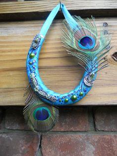 @jaxtats  Handmade horse shoe art. - Horseshoe, lucky, feathers, western, cowgirl